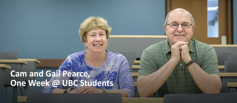 Cam and Gail Pearce - One Week at UBC Student