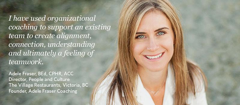 Adele Fraser, a 2019 graduate of the UBC Certificate in Organizational Coaching