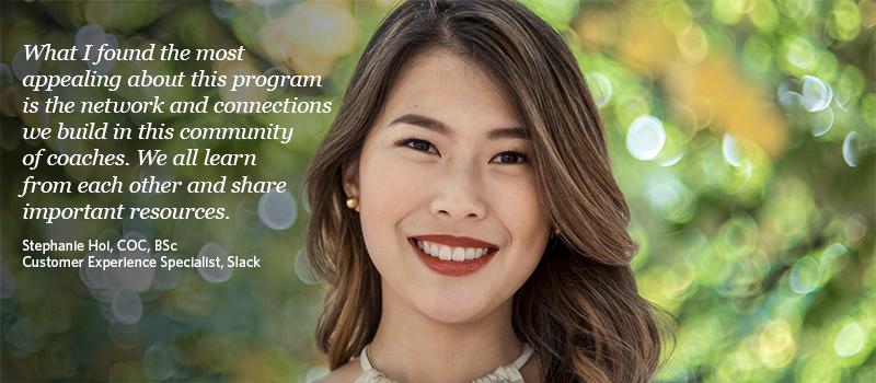 Stephanie Hoi, a 2019 graduate of the UBC Certificate in Organizational Coaching